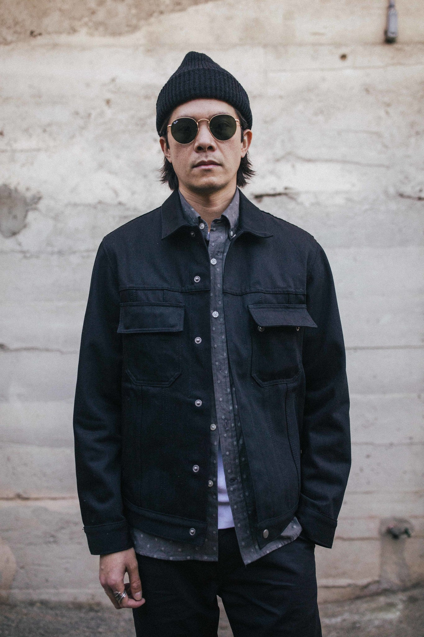 Cruiser Jacket / 12oz Black Denim