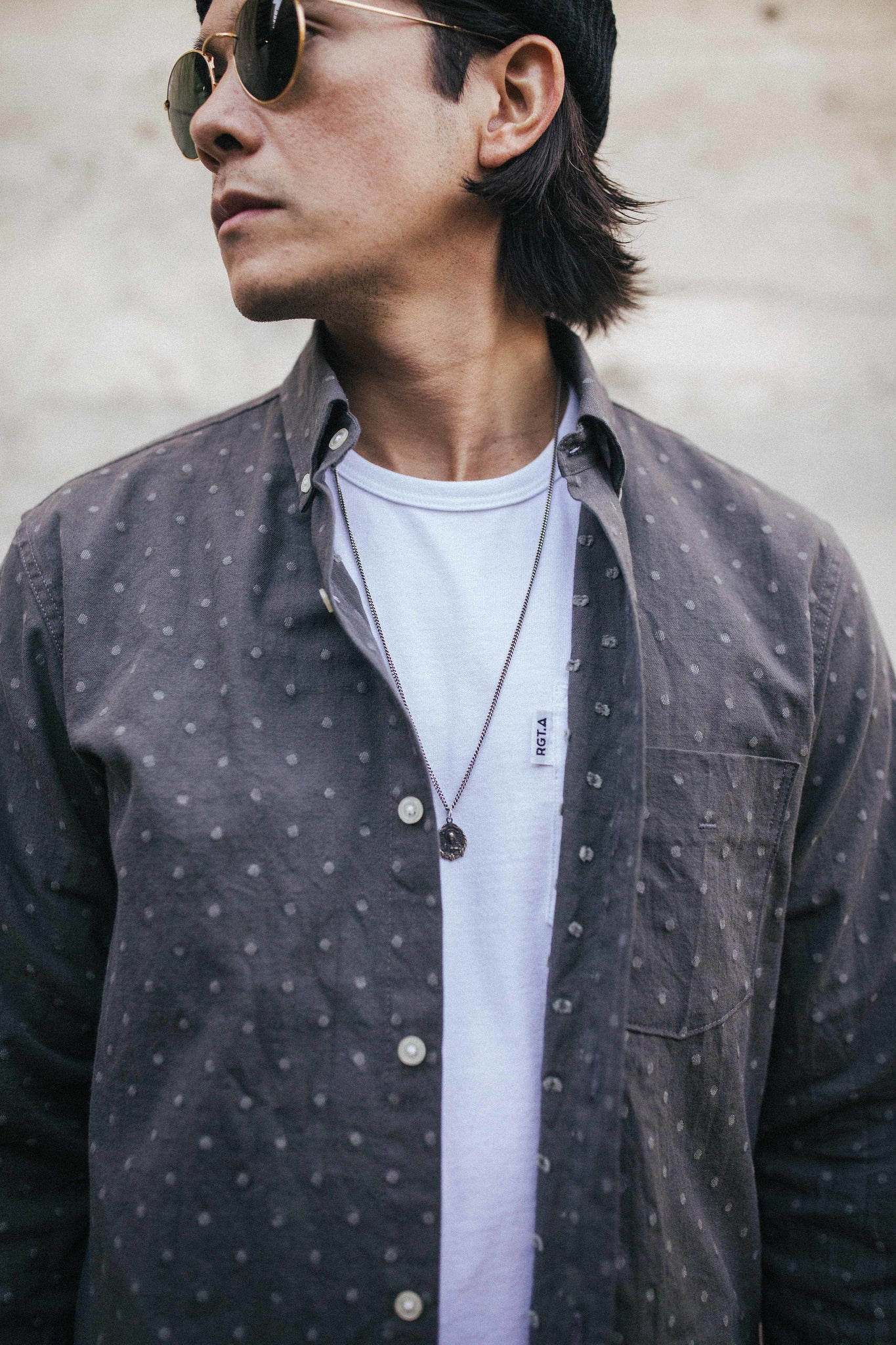 Oxford Shirt / Grey Dobby