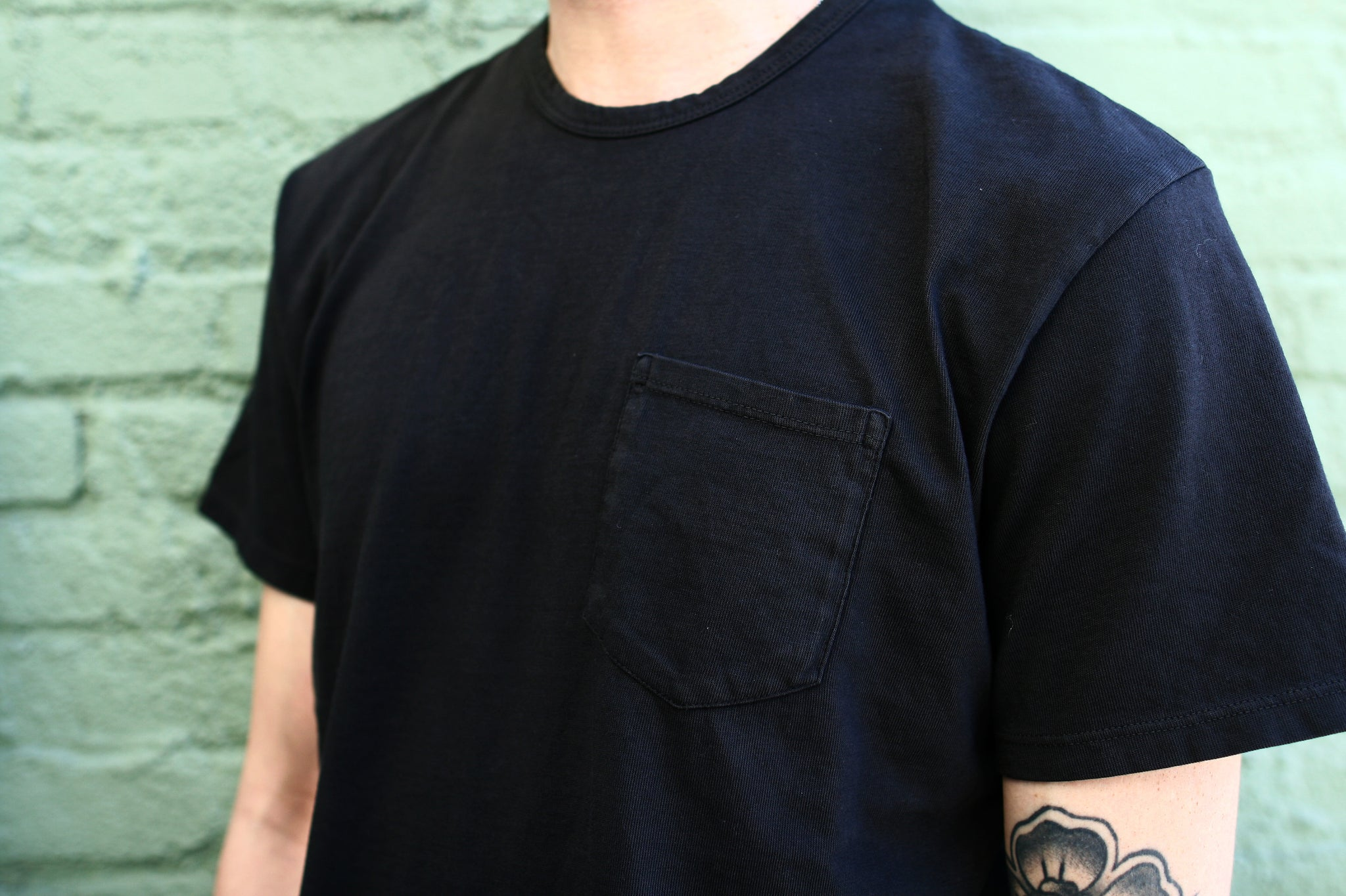Pocket T-Shirt / Faded Black
