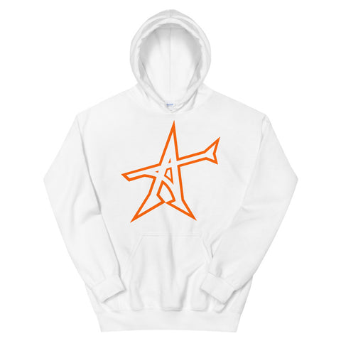 """ALL-IN"" hoodie (neon orange print)"