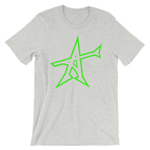 """ALL-IN"" T-shirt (neon-green print)"