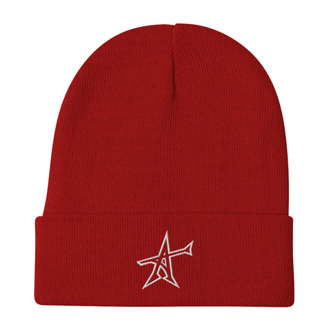 """ALL-IN"" Otto Beanie (white print)"