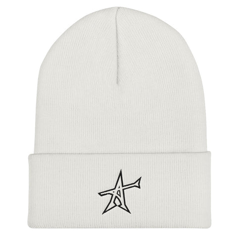 """ALL-IN"" Cuffed Beanie (black print)"