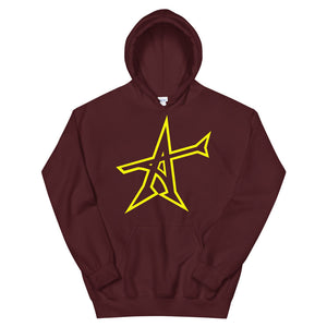 """ALL-IN"" Hoodie (yellow print)"