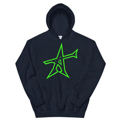 """ALL-IN"" hoodie (neon green print)"