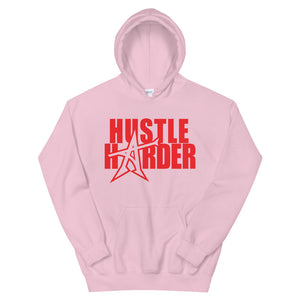 """HUSTLE HARDER"" Hoodie (red print)"