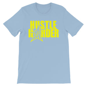 """HUSTLE HARDER"" T-shirt (yellow print)"