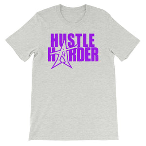 """HUSTLE HARDER"" T-shirt (purple print)"