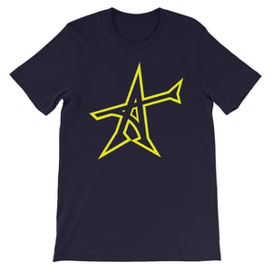 """ALL-IN"" T-shirt (yellow print)"