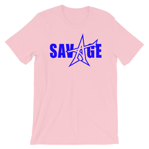 """SAVAGE"" T-shirt (blue print)"