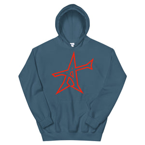 """ALL-IN"" Hoodie (red print)"