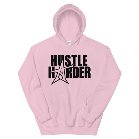 """HUSTLE HARDER"" Hoodie (black print)"