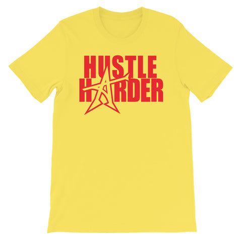 """HUSTLE HARDER"" T-shirt (red print)"