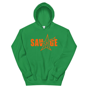 """SAVAGE"" Hoodie (orange print)"