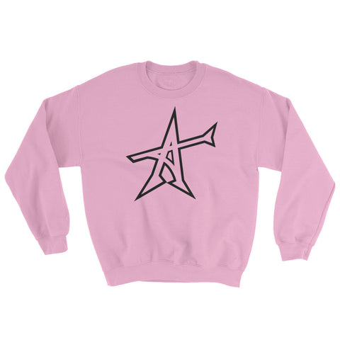 """ALL-IN"" Sweatshirt Light Pink (black print)"