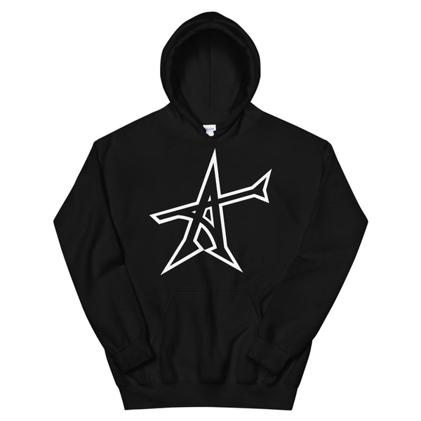 """ALL-IN"" Hoodie (white print)"