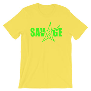 """SAVAGE"" T-shirt (neon-green print)"