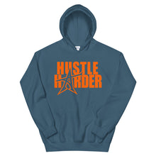 """HUSTLE HARDER"" Hoodie (orange print)"