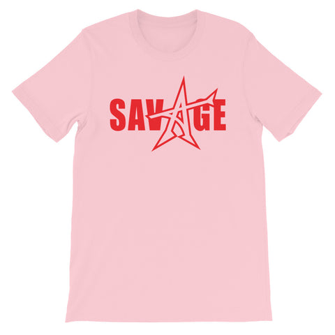 """SAVAGE"" T-shirt (red print)"