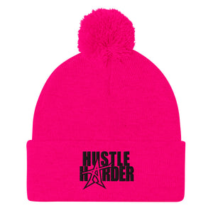 """HUSTLE HARDER"" Pom-Pom (black print)"