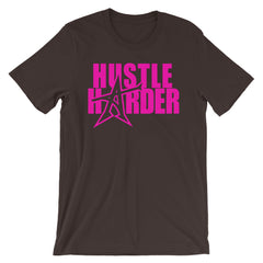 """HUSTLE HARDER"" T-shirt (pink print)"