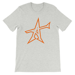 """ALL-IN"" T-shirt (neon-orange print)"