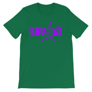 """SAVAGE"" T-shirt (purple print)"
