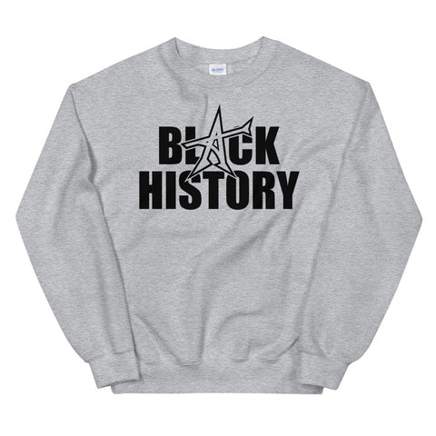 """BLACK HISTORY"" Sweatshirt (black print)"