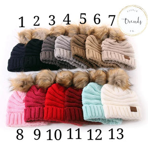 Knit Beanie with Large Pom - RTS