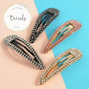 Set of 4 Bling Hair Clips - RTS