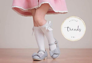 Size S/M - Boot Socks with dainty bow - RTS