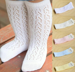 Mesh Soft Knee High Socks - RTS