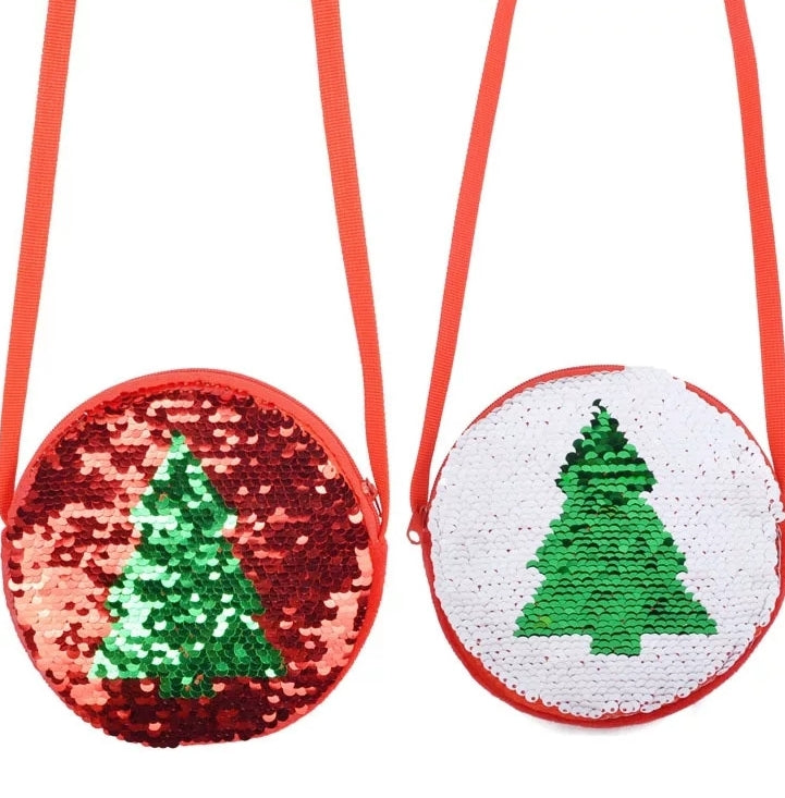 Christmas Tree Flippable Purse - RTS
