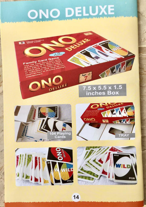 ONO - UNO Deluxe Playing Cards Game-PX-10785