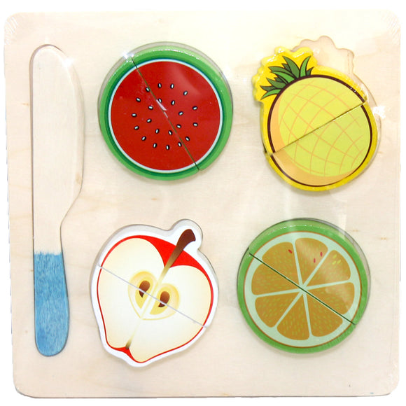 Wooden Puzzle - Fruit Cutting Apple Set - 5 pcs