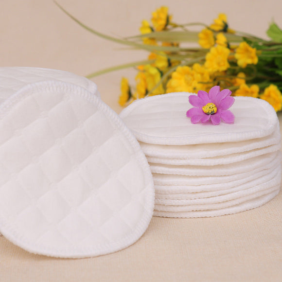 12PCS(6 pairs) 3 layers cotton Washable Breast Pads