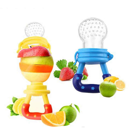 Fruit pacifier with rattle