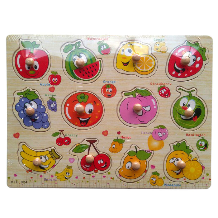 Wooden Puzzle - Learning Fruits-PX-9625