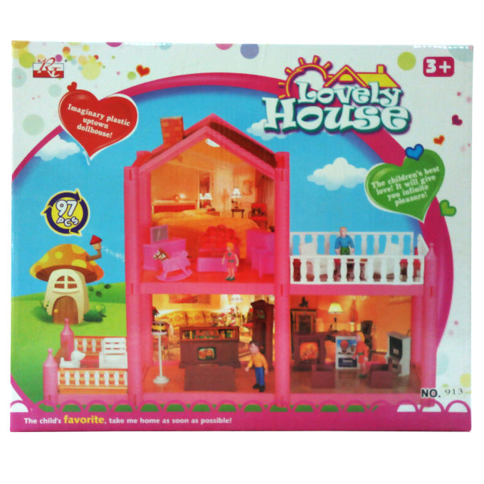 Lovely Doll House - 97 Pcs