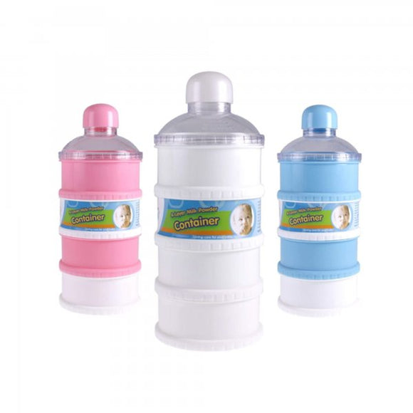 Stony Angel Milk Powder/ Snack Container 4 layers- MULTICOLOR , H-17CM, W-7CM,