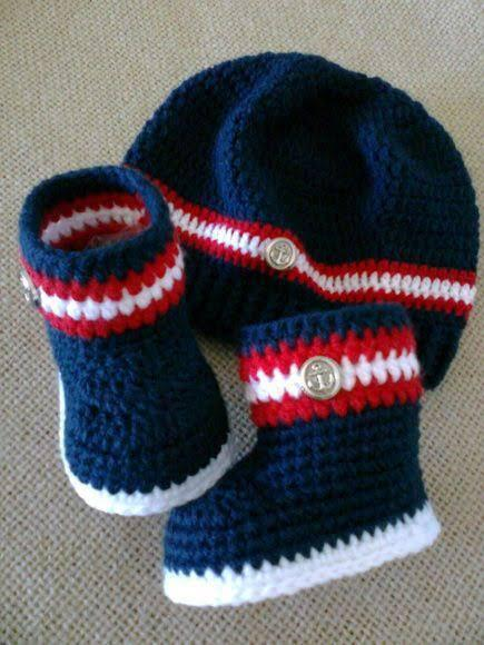 Crochet Baby Booties and caps