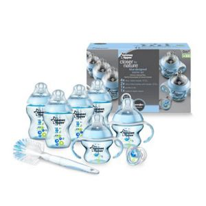 TOMMEE TIPPEE-FEEDING BOTTLE STARTER SET (BLUE)