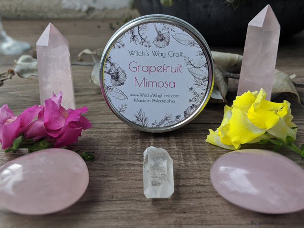 Grapefruit Mimosa - Scented Soy Candle