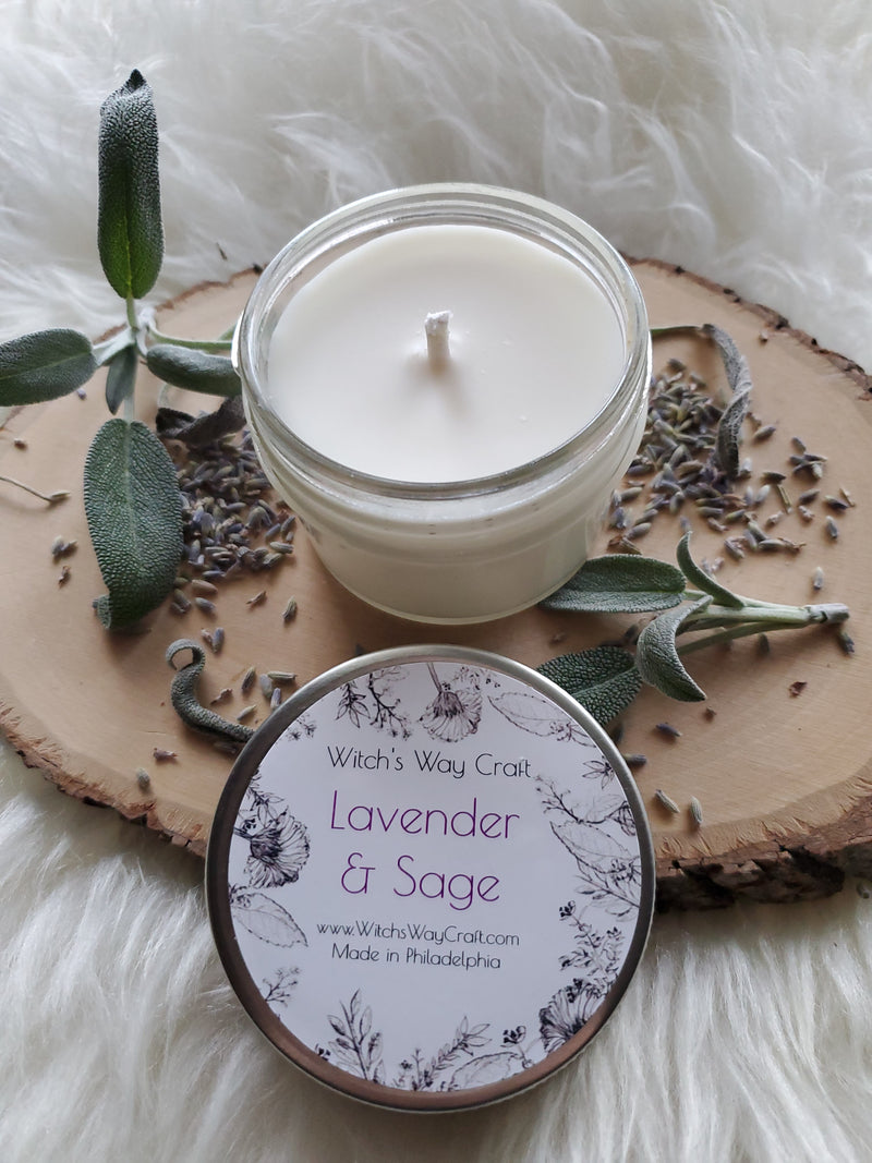 Lavender & Sage - Scented Soy Candle