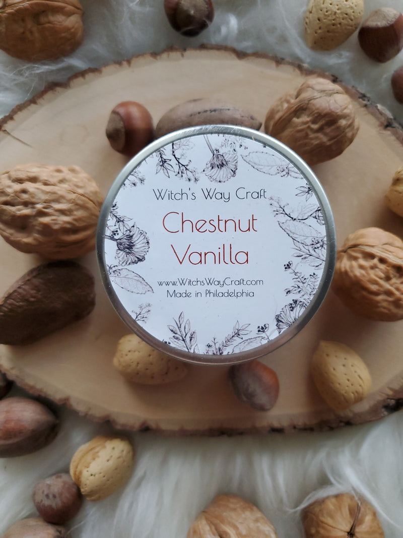 Chestnut Vanilla - Scented Soy Candle
