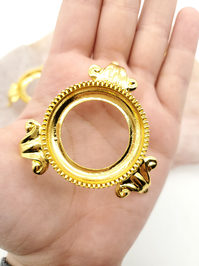 Gold - Stand for Crystal Spheres 1.5 inches