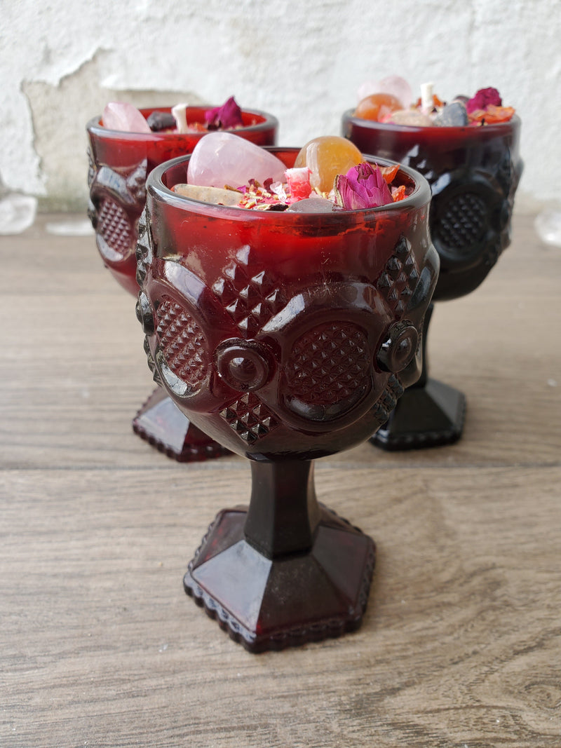 Deadly Attraction Spell Candle - Ruby Red Goblet (small)