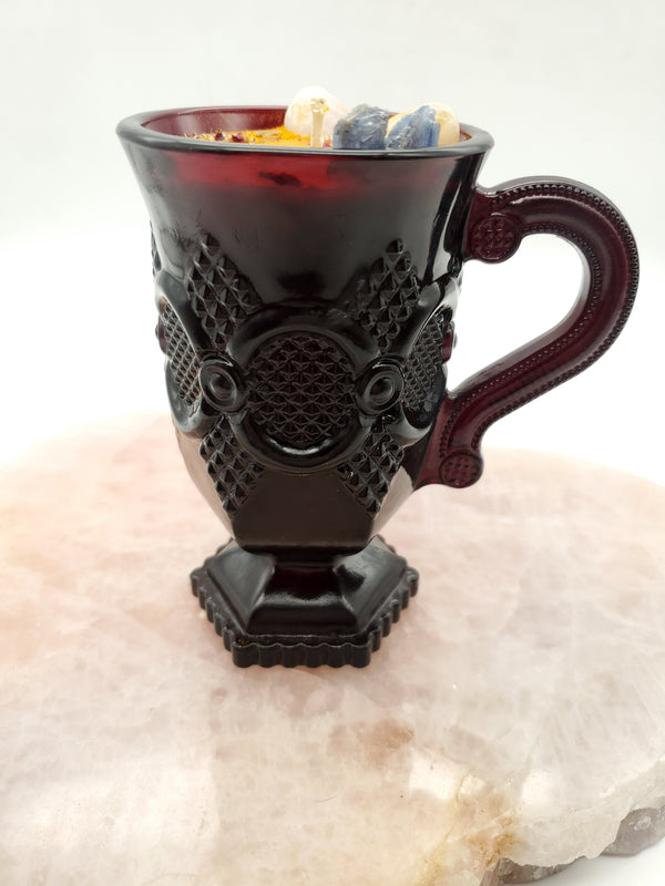 Brighter Days Spell Candle Ruby Red Mug with Handle