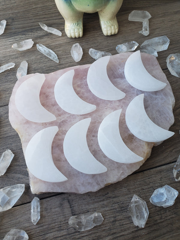 Flat Selenite Moon