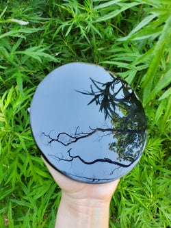 Obsidian Scrying Mirror 6 inches
